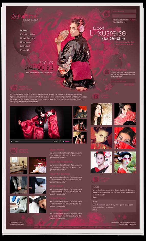 - Geisha escort