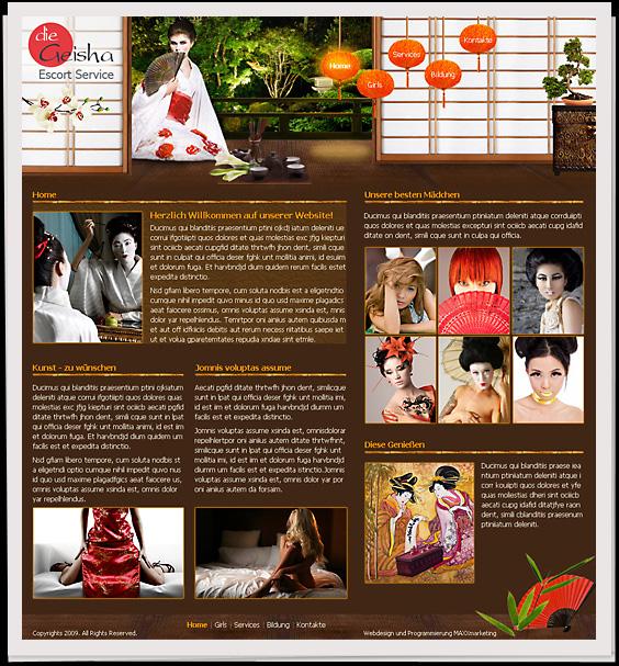 - Webdesign der Startseite