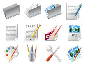 - Icon-Design zum Thema Designer Tools