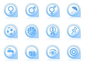 - Icon-Design zum Thema Signs